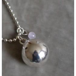 Bola de grossesse Plaqué Argent Mini Perle Amethyste