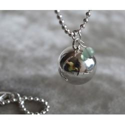Bola de grossesse Plaqué Argent Mini Perle Jade
