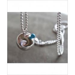 Bola de grossesse Plaqué Argent Mini Perle Turquoise