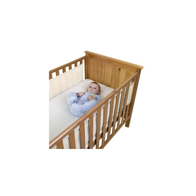 tour de lit a r et respirant 2 cot s en blanc. Black Bedroom Furniture Sets. Home Design Ideas