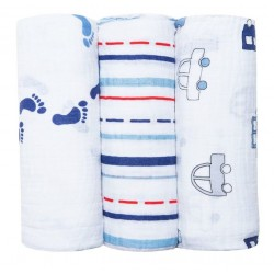 Langes Bubble coffret de 3  Baby Boy Blue