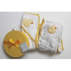 coffret de bain bébé jaune