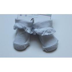 Chaussettes blanches bébé 0-6 mois