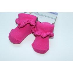 Chaussettes roses bébé 0-6 mois
