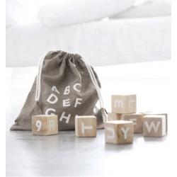 Cubes en bois  'Alphabet'