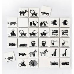 Memory en bois  32 plaques en bois