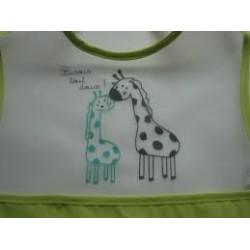 Bavoir girafes ( en vinyl)