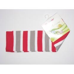 Babylegs,legwarmer rayées rouge,gris et blanc