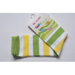 Babylegs,legwarmer rayées vert et jaune