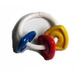 Premier petit hochet bébé (rouge, jaune, bleu)