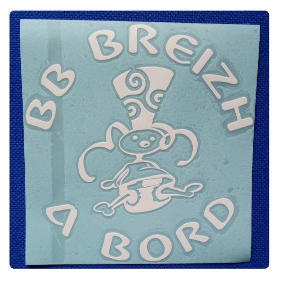 Sticker 'BB Breizh à Bord'...