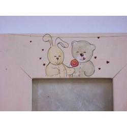 Cadre photo en bois 'Ted & Lili'