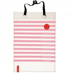 Grand bavoir, serviette de table en rose