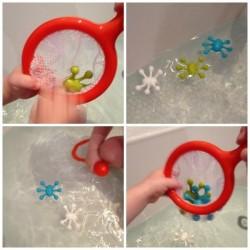 3 Jouets de bain et filet
