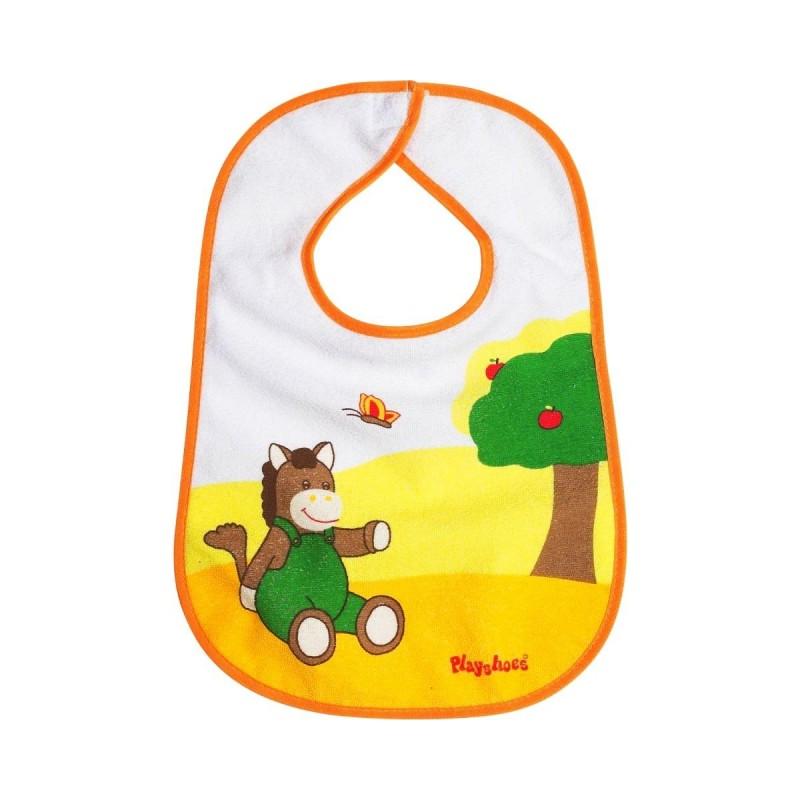 Bavoir jaune et vert motif 'cheval' PlayShoes