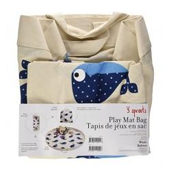 """Tapis de jeux + Sac de rangement  """"Baleines bleues"""""""