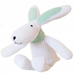 Lapin doudou blanc 'Hoppy'