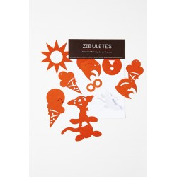"Guirlande Figurines ""Zibuletes"" orange"
