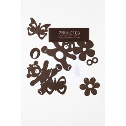 "Guirlande Figurines ""Zibuletes"" marron"