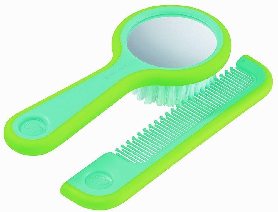 Brosse à cheveux miroir et...