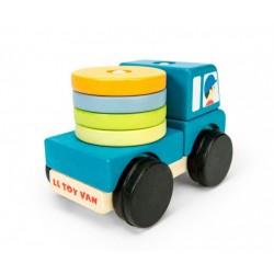 Camion en bois: éléments empilables