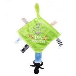 Doudou plat BB Breizh vert-bleu