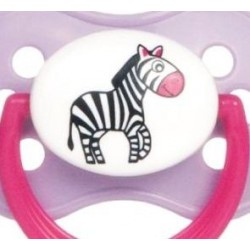 Sucette rose bout rond ZEBRE  taille: B