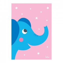 Poster Phosphorescent 'Eléphant'