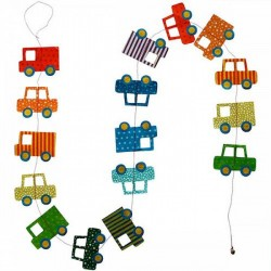 Guirlande 'Les Autos' multicolore