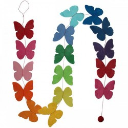 Guirlande 'Petits Papillons unis' multicolore