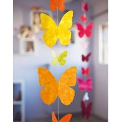 Guirlande 'Papillons'  jaune