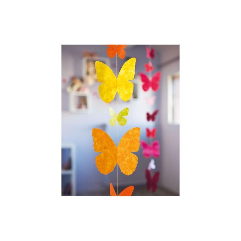 Guirlande 'Papillons'  jaune LAMALI