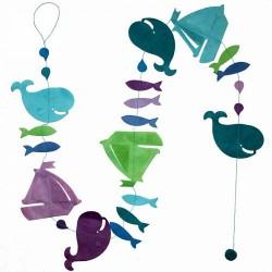Guirlande 'Régate' Turquoise