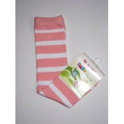Babylegs,legwarmer rayées rose et blanc