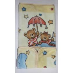 Baby sac-Nid d'ange jaune Motifs ours et éléphant