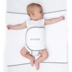 Cale bébé blanc-gris 0 à 9 mois