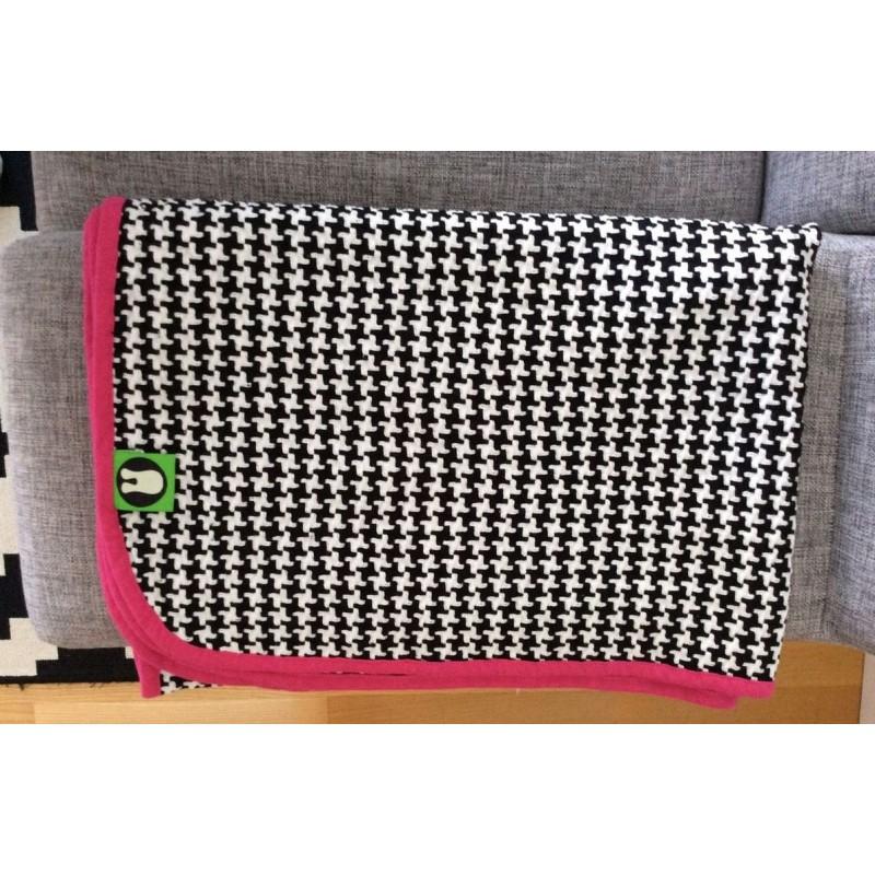 Plaid multifonction rose 100 % coton