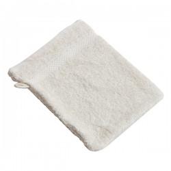 Gant de toilette en coton bio 'écru'