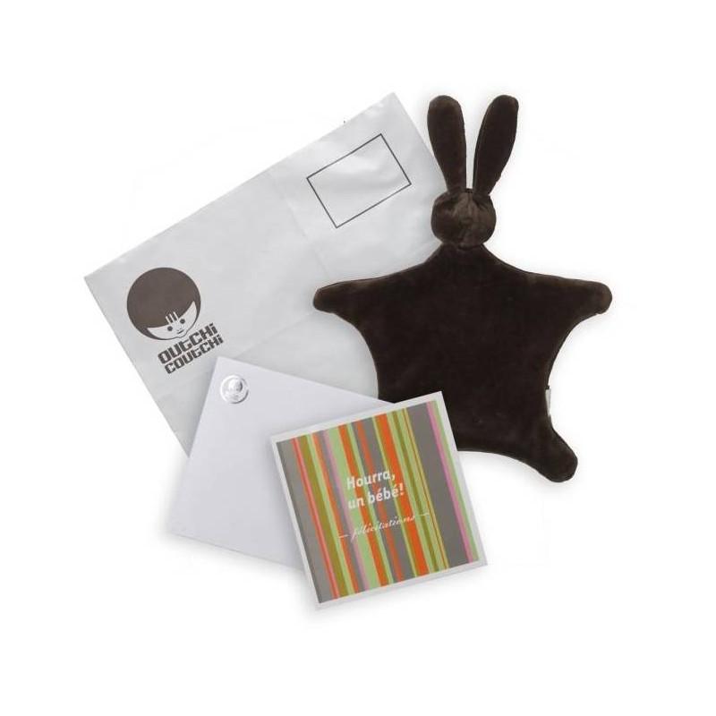 Kit de félicitations avec doudou marron