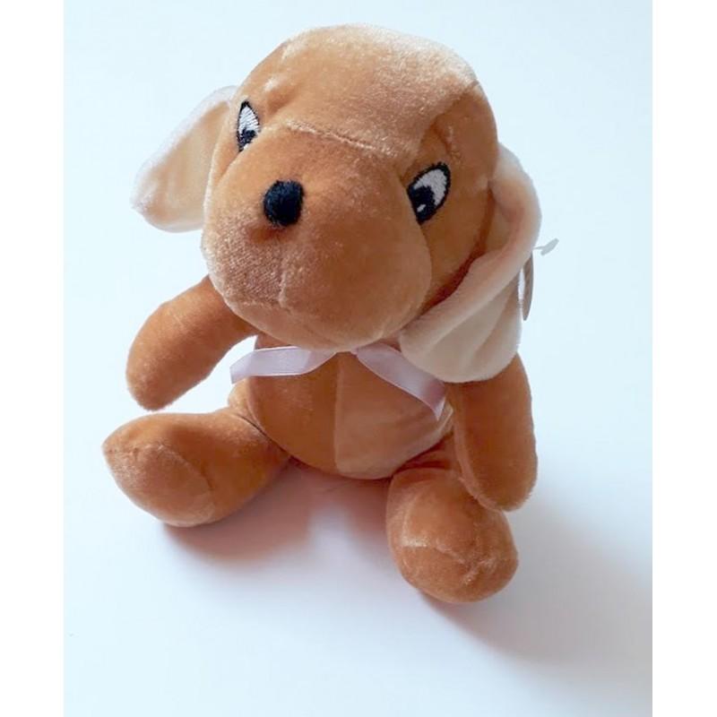 Peluche chien 'assis' 'Pluchon' marron