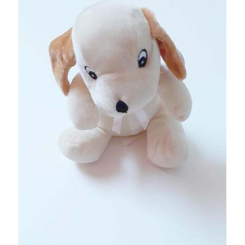 Peluche chien 'assis' 'Pluchon' beige