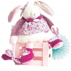 Doudou d'activités 'Lapin rose' Doudou & Compagnie