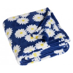 Plaid-couverture- Marguerites Printemps