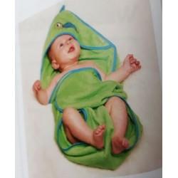 Sortie de bain Verte