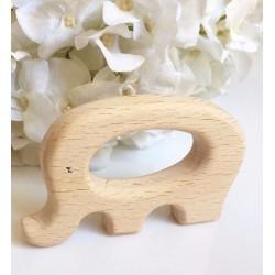 Hochet en bois naturel Eléphant