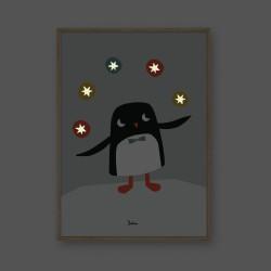 Poster Phosphorescent 'Pingouin'