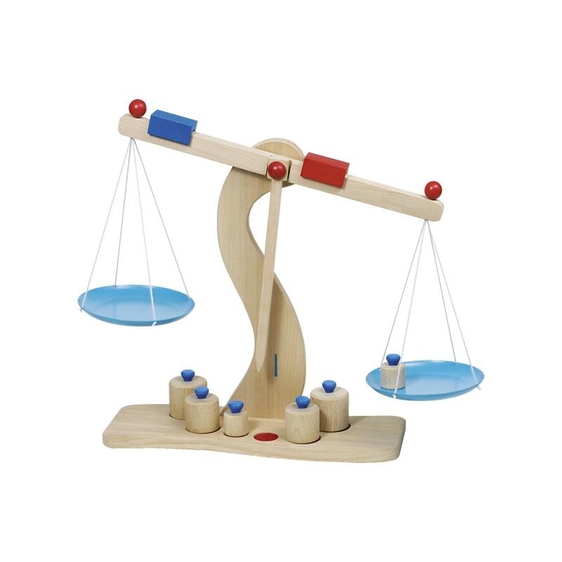 Balance en bois + 6 poids Goki Gollnest & Kiesel