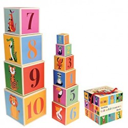 """10 Cubes Pyramide """"Animaux"""""""