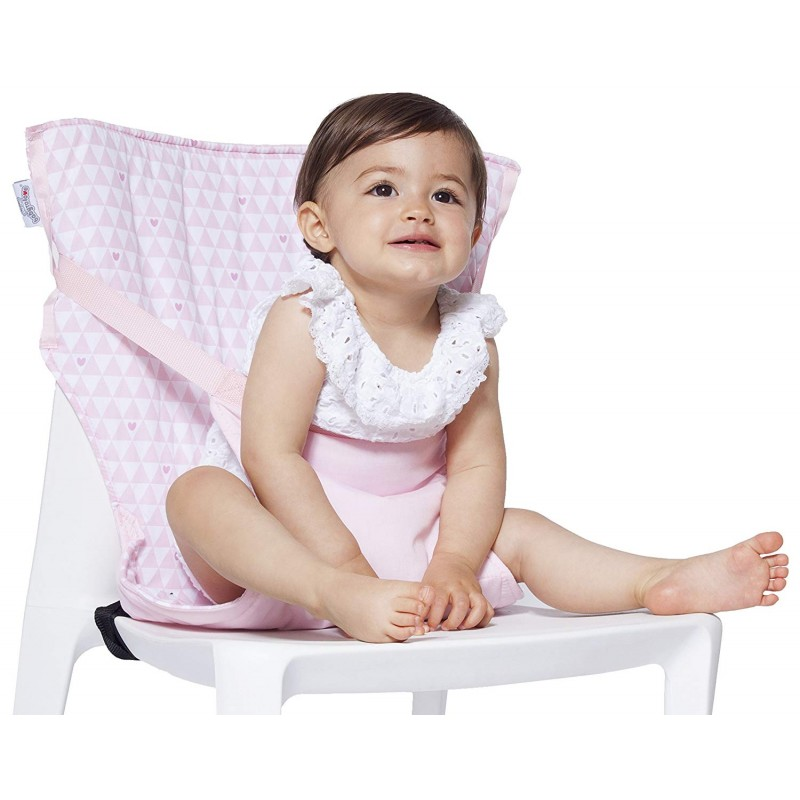 Chaise Nomade Réversible Coeurs Roses Baby To Love