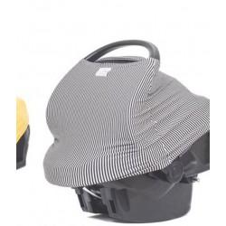 Protection en coton extensible multifonction uni brun